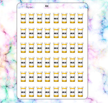 Load image into Gallery viewer, RX Pill Bottle Planner stickers| Any Planner
