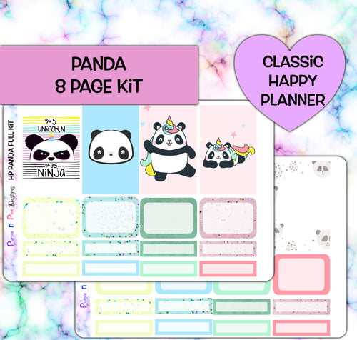 Panda Unicorn Planner Stickers | Happy Planner | Weekly Kit