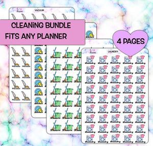 Cleaning Planner stickers | fits any planner