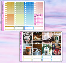 Load image into Gallery viewer, Starbucks Coffee Planner Stickers | Erin Condren | Weekly Kit