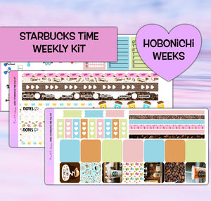 Starbucks Coffee Planner Stickers | Hobonichi Weeks | Weekly Kit