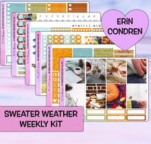 Load image into Gallery viewer, Sweater Weather Planner Stickers | Erin Condren | Weekly Kit