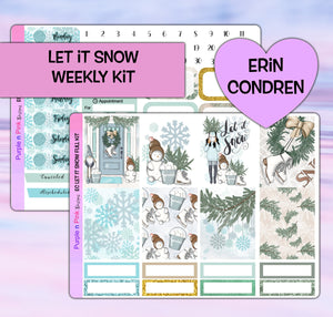 Let It Snow Planner Stickers | Erin Condren | Weekly Kit