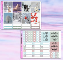 Load image into Gallery viewer, Winter Animals Planner Stickers | Erin Condren | Weekly Kit