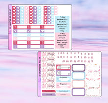 Load image into Gallery viewer, Valentine Girl Planner Stickers | Erin Condren | Weekly Kit