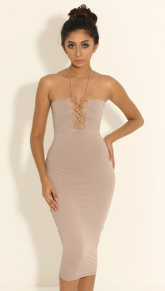Shivana Mauve Halter Dress