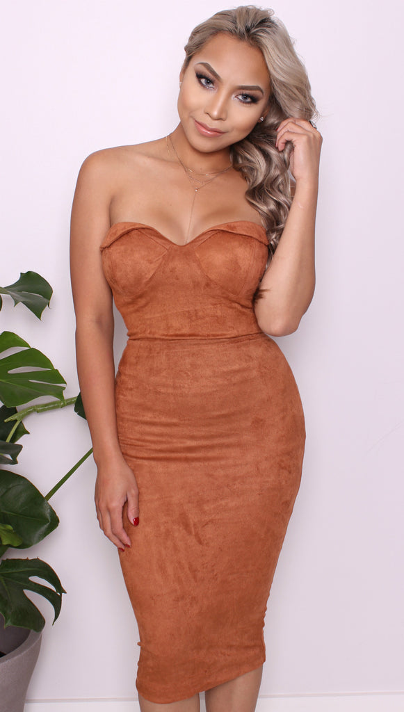 """Rustic"" Love Suede Dress"