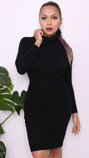 """Tamara"" Black Longsleeve Dress"