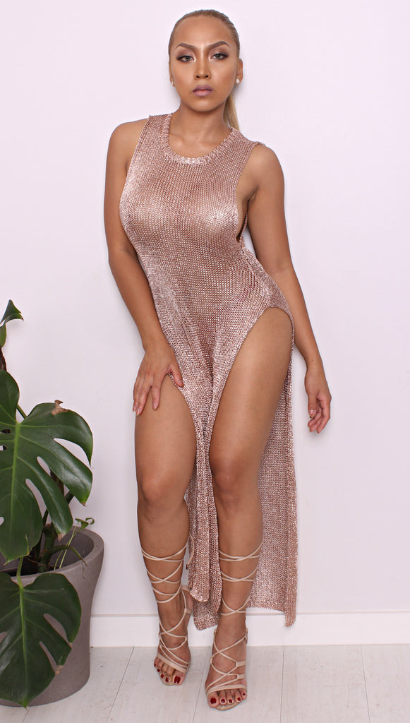 Sondaya Rose Gold Dress