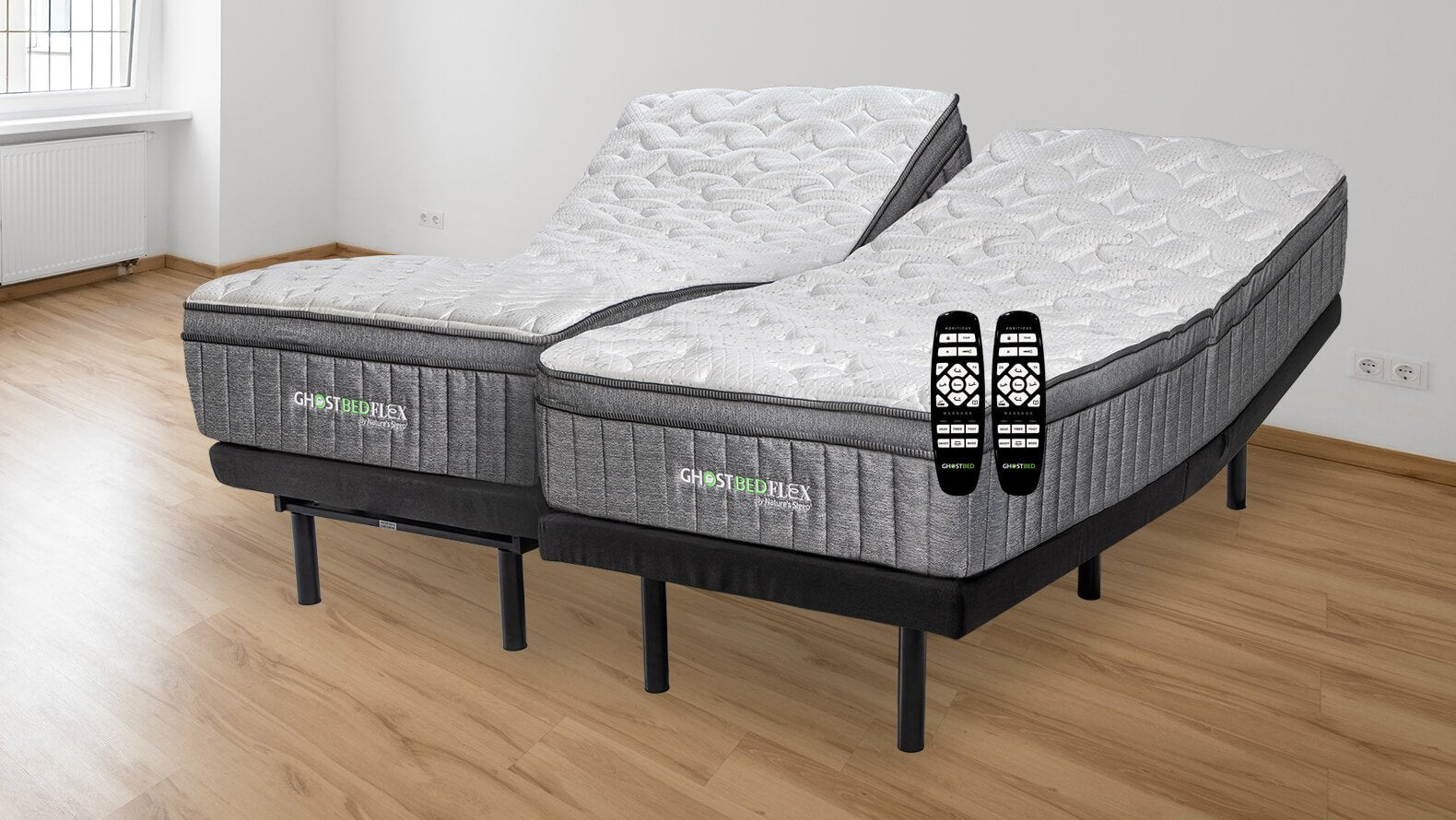 Picture of: Ghostbed Split King Mattress With Adjustable Power Base Ghostbed