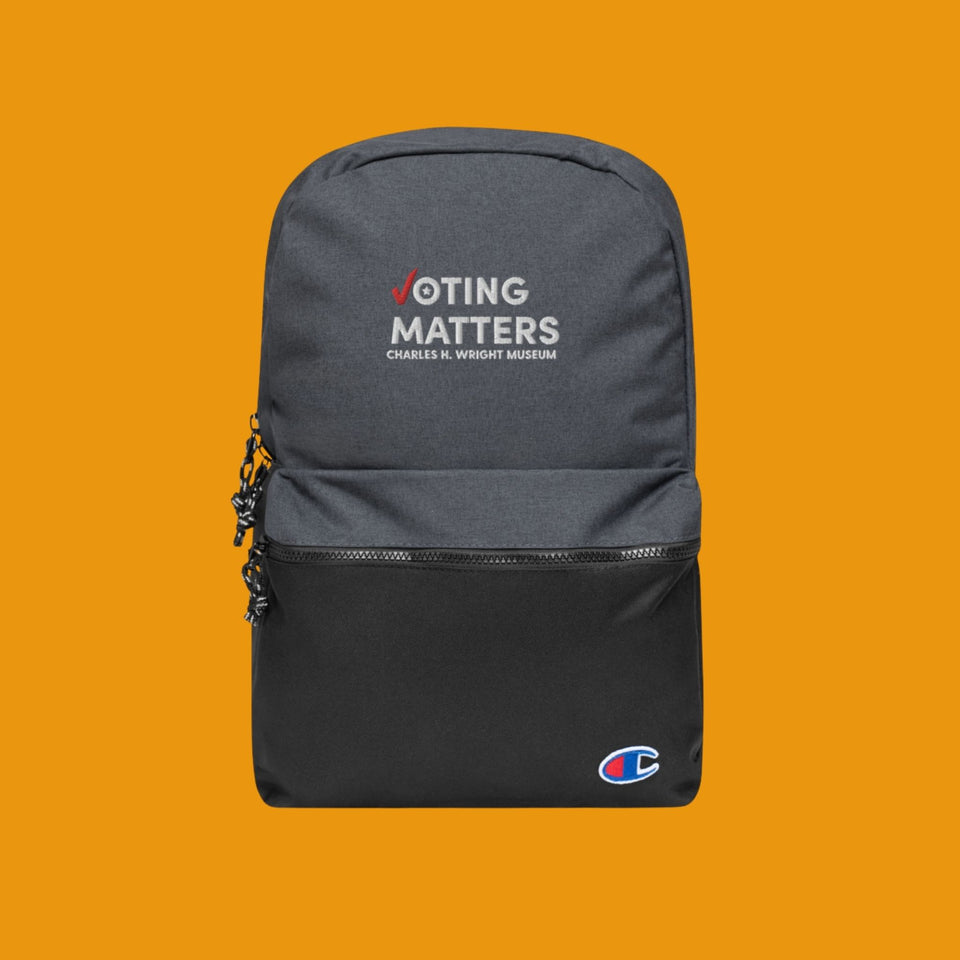 Voting Matters Embroidered Champion Backpack