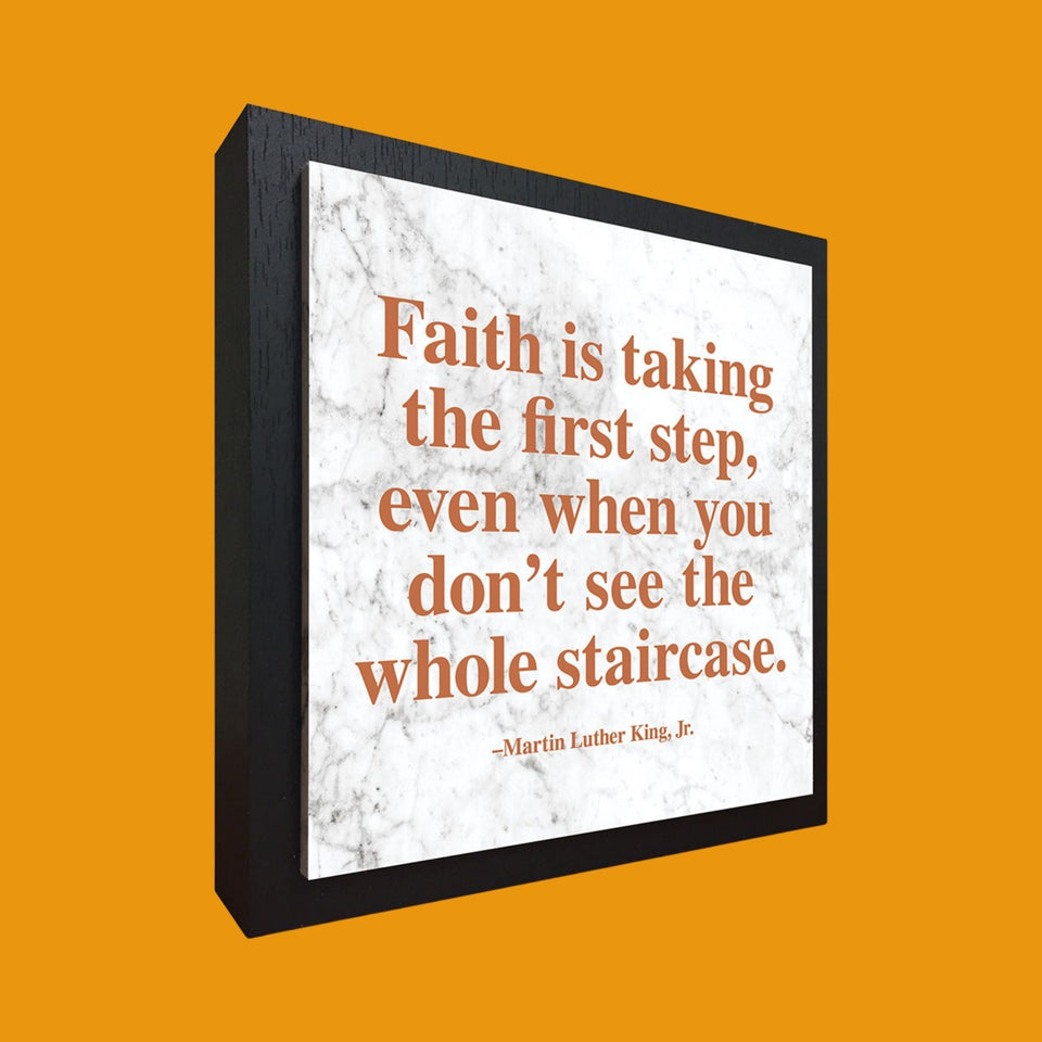 "MLK ""Faith"" Quote Plaque"