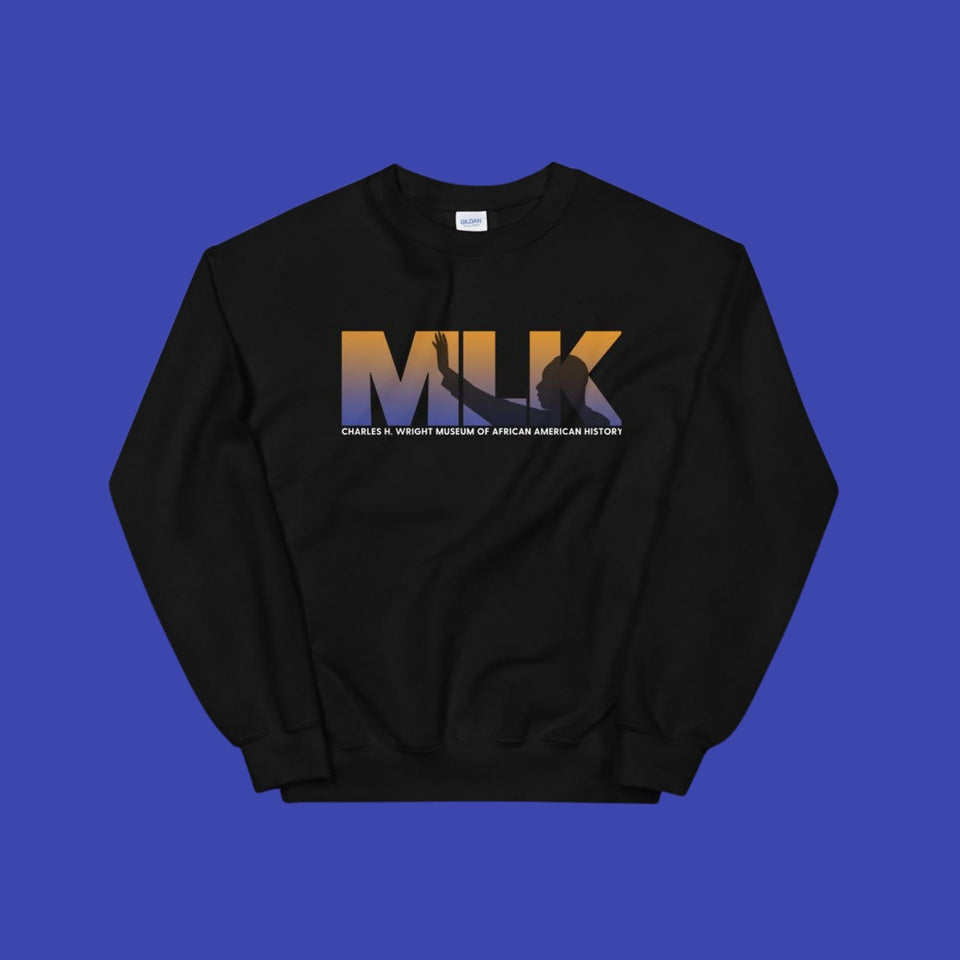 MLK in Blue Unisex Sweatshirt
