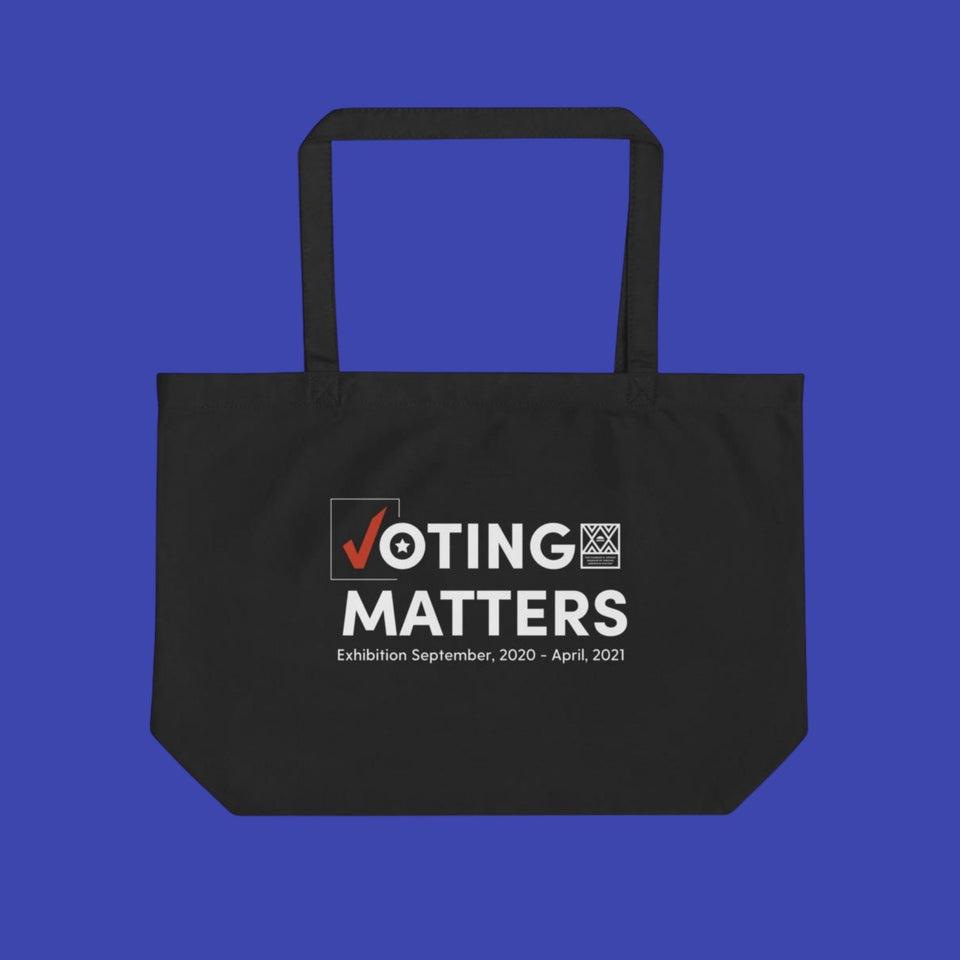 Voting Matters Large Organic Tote Bag