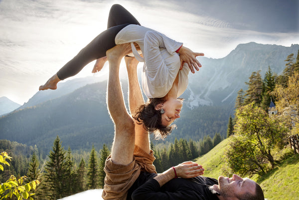 Take flight this Valentine's Day! Find balance and connect with partner yoga
