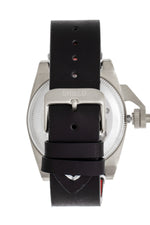 Shield Pascal Leather-Band Men's Diver Watch - Black/Silver