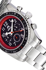 Shield Exley Bracelet Men's Chronograph Diver Watch - Black/Red
