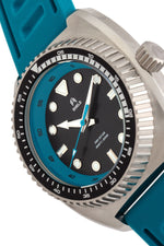 Shield Dreyer Men's Diver Strap Watch - Silver/Teal