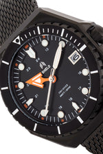 Shield Marius Bracelet Men's Diver Watch w/Date - Black
