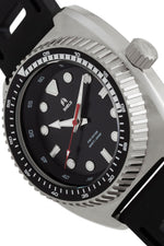 Shield Dreyer Men's Diver Strap Watch - Silver/Black