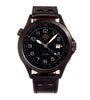 Shield Palau Leather-Band Men's Diver Watch w/Date - Black