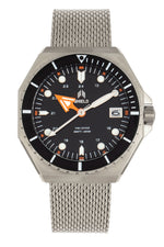 Shield Marius Bracelet Men's Diver Watch w/Date - Silver/Black