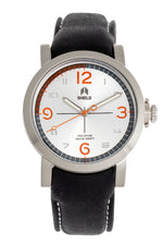 Shield Berge Leather-Band Men's Diver Watch - Silver