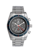 Shield Exley Bracelet Men's Chronograph Diver Watch - Navy/Grey