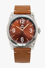 Shield Cavern Strap Watch - Brown