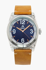 Shield Cavern Strap Watch - Camel/Blue-Black