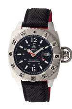 Shield Vujnovich Swiss Men's Diver Watch w/Date - Silver/Black