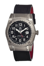 Shield Jarrod Leather-Band Swiss Men's Diver Watch - Silver/Black