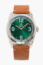 Shield Cavern Strap Watch - Tan/Green