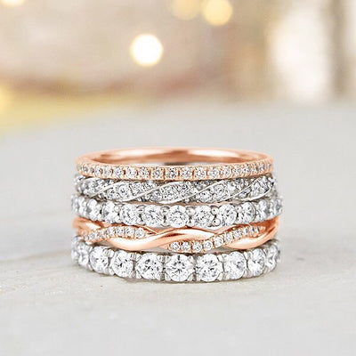 How To Wear Stackable Wedding Rings