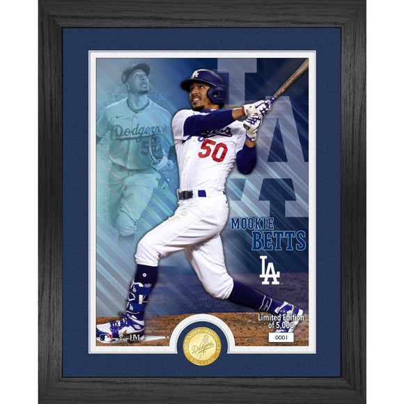 Dodgers Mookie Betts Los Angeles Dodgers Bronze Coin Photo Mint