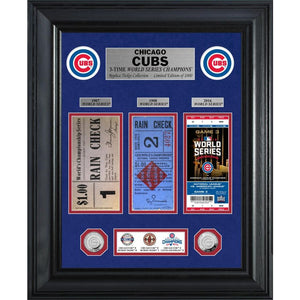 Chicago Cubs World Series Deluxe Silver Coin & Ticket Collection