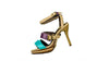 Nicole Strap Aquamarine, summer sandal heels, open toe, side view