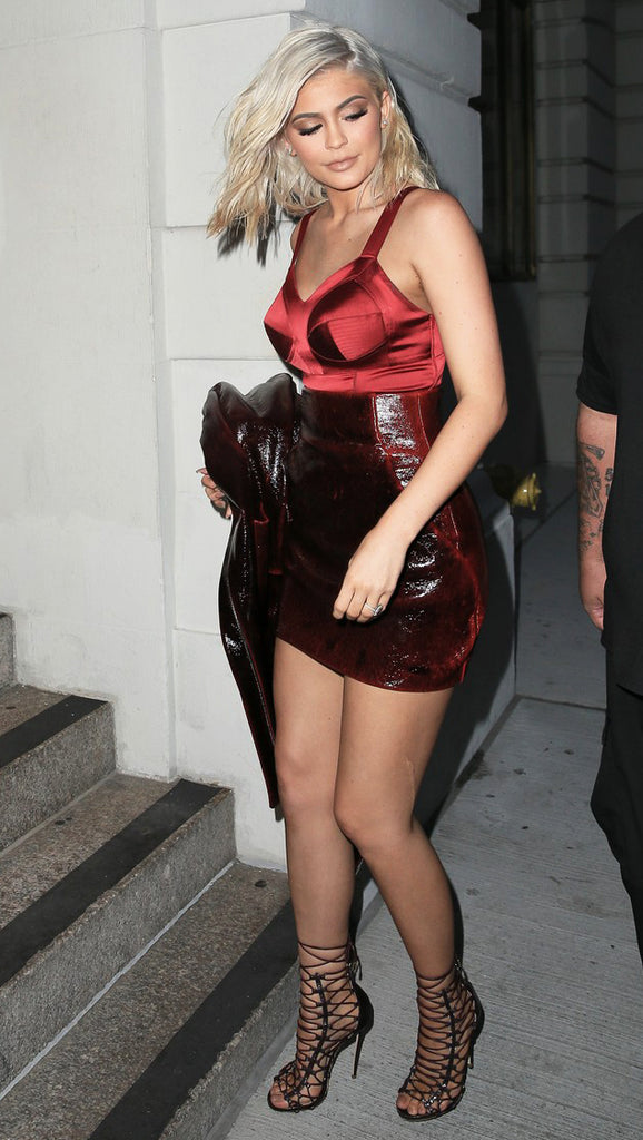 Kylie Jenner in a red-hot Murmur bodysuit in NYC