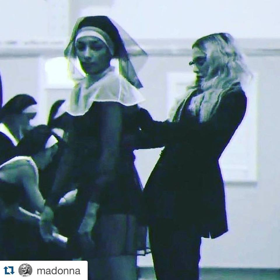 Madonna preforms in MURMUR Nun transparent outfit for her Rebel Heart Tour