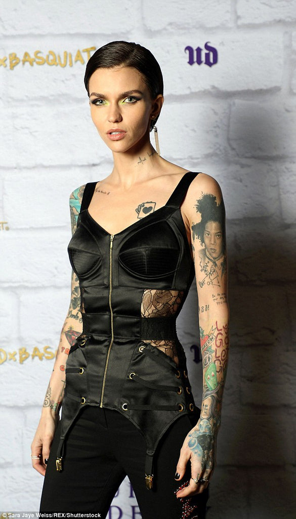Ruby Rose wearing MURMUR Zest Corset in Los Angeles
