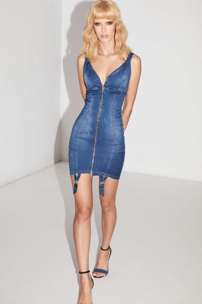 murmur clothing denim bodysuit dress collection spring summer