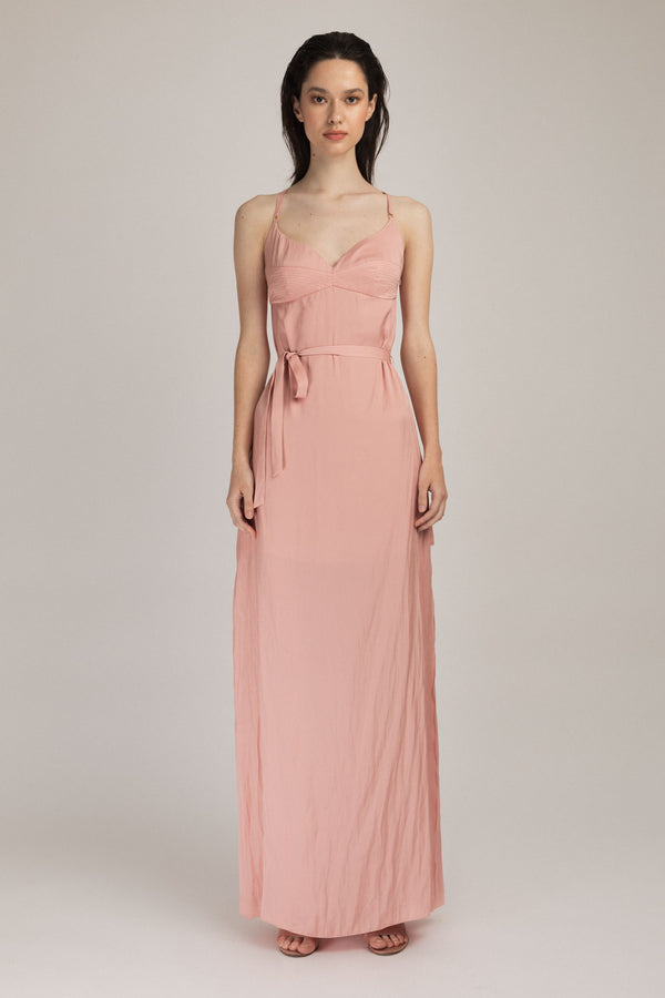 Escapade Long Dress Blush