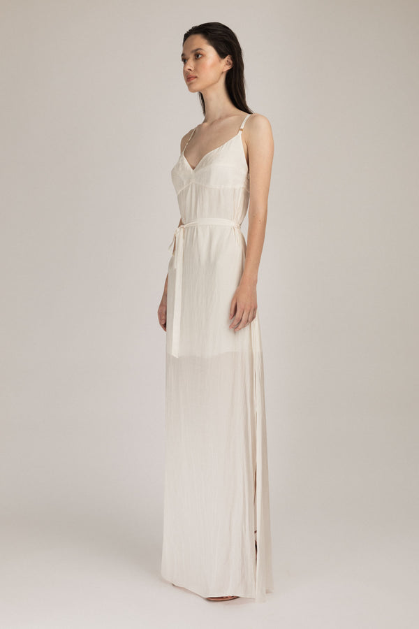 Escapade Long Dress White