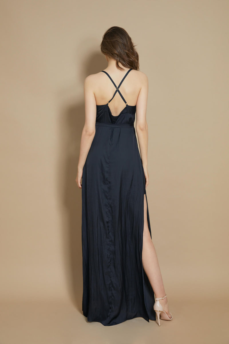 Escapade Long Dress Black