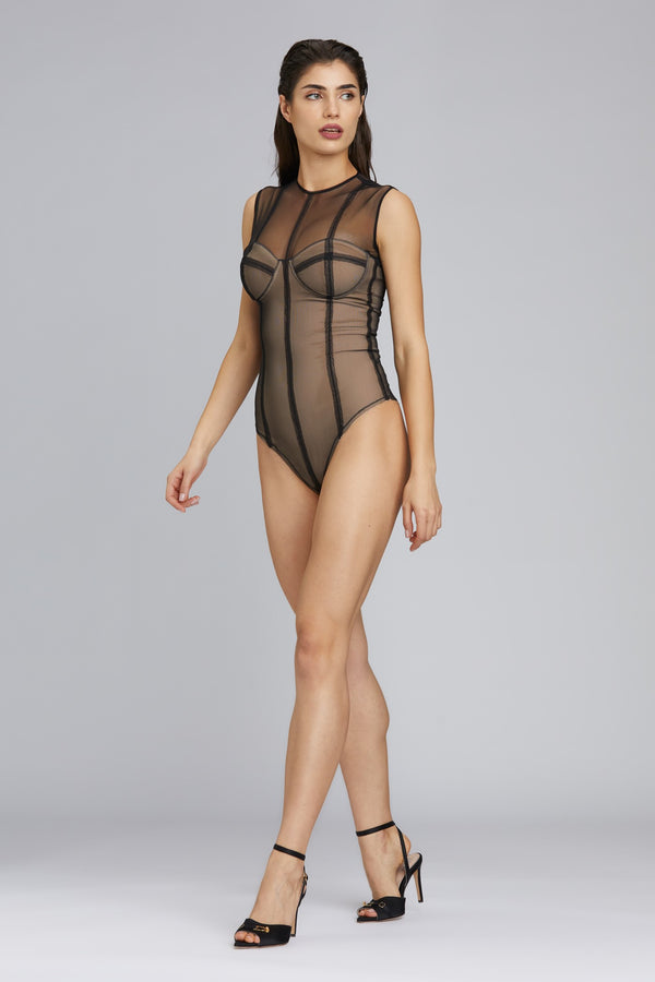 Figure Bodysuit Black