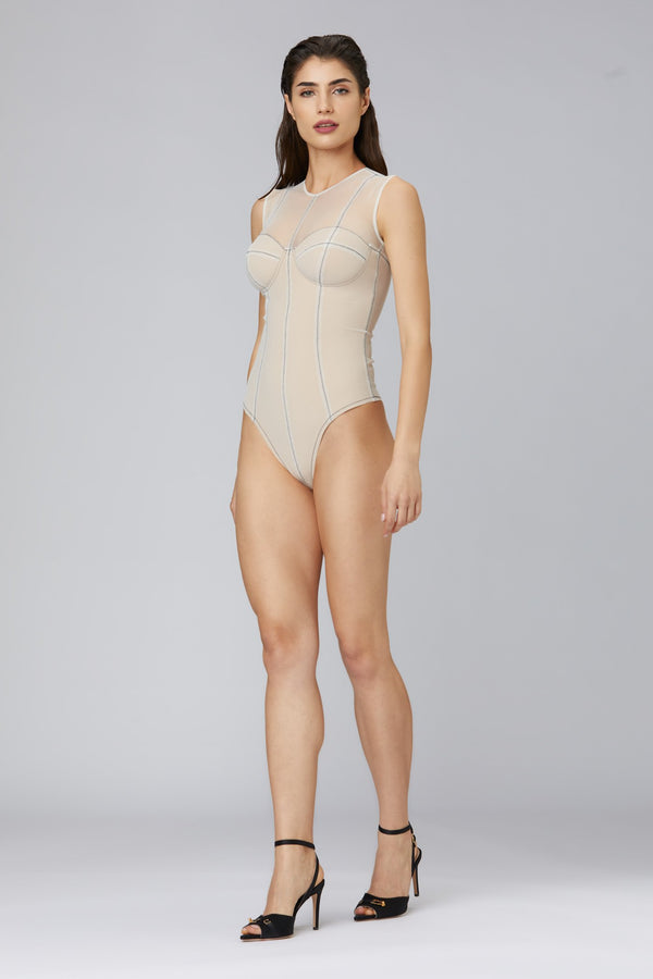 Figure Bodysuit White