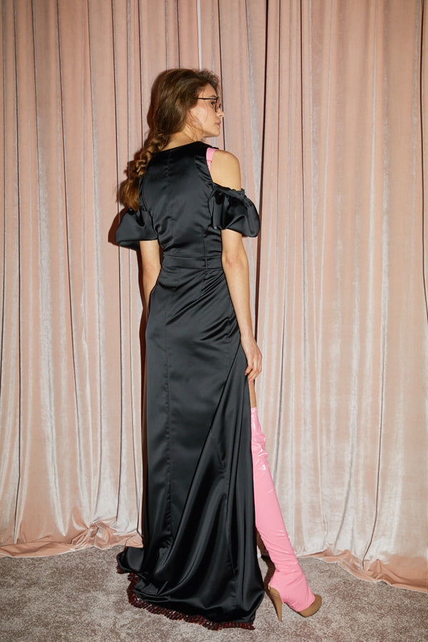 Icing Long Dress Black