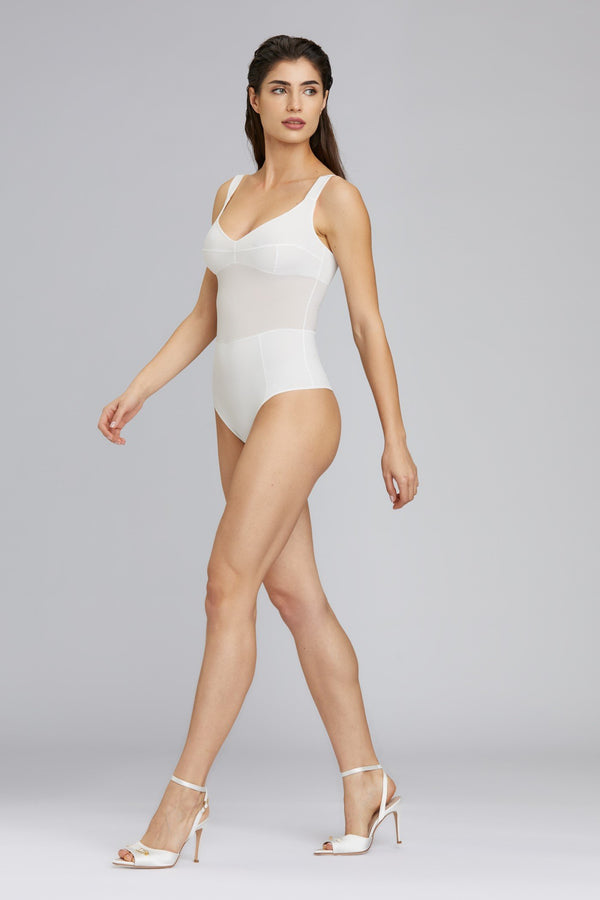 Grid Bodysuit White