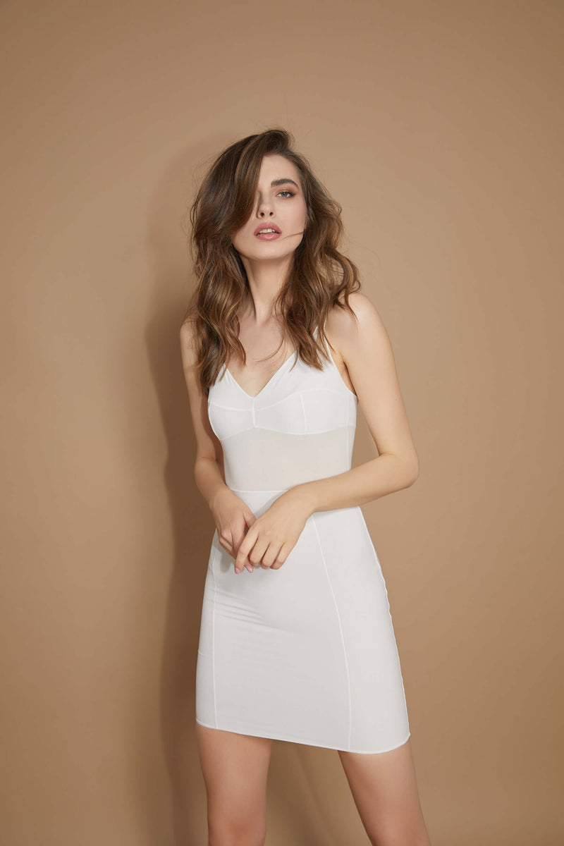 Grid Underdress Snow White