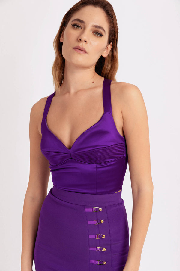 Haze Bra Top Violet